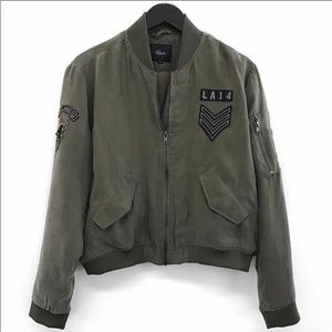 Rails Ace Military Jacket in Sage Green Patch M